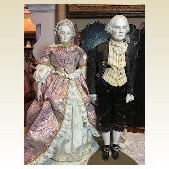 Fabulous Emma Clear George & Martha Washington Dolls