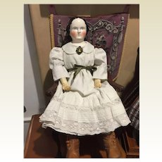 "28"" Early Kestner China Head Doll"