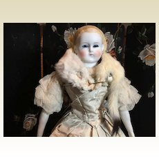 "Fabulous Glass Eye Parian Doll-20"" Tall"