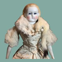 "Fabulous Glass Eye Parian Doll-20"" Tall- Free Ship!"
