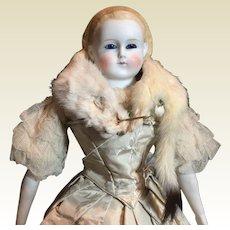 "Fabulous Glass Eye Parian Doll-20"" Tall"