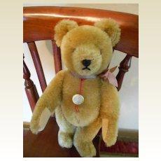 "8"" Golden Mohair Jointed Teddy Bear by Hermann"