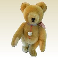 "8"" Golden Mohair Jointed Teddy Bear by Hermann"
