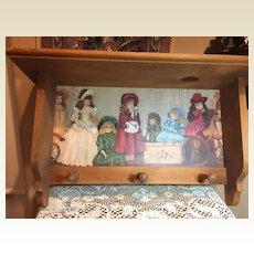 Fabulous Wood Peg Doll Shelf