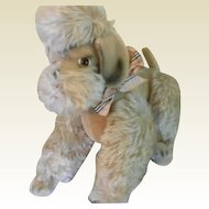 Large Vintage German Mohair Poodle Dog