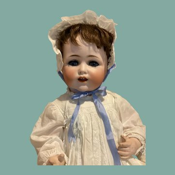 """Lovely 21"""" Kestner 257 Baby-Gorgeous Antique Outfit!"""