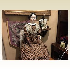 "Large 33"" Antique Kestner China Head Doll- SPECIAL PRICE!!!!"