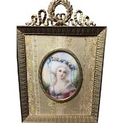 Gorgeous Miniature Portrait in Lovely Frame