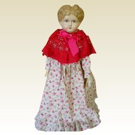 Adorable Antique Paper Mache Doll with Antique Clothes