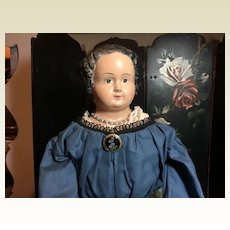 "26"" Tall Antique Papermache Doll"