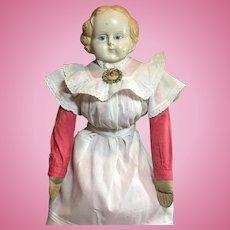 """Rare Good Year Rubber Head Doll-21"""". Tall"""