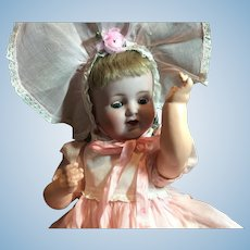 "Rare Mechanical Baby Doll-18"" Tall"