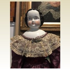 "Stately Antique Kister China Head Doll-31"" Tall"