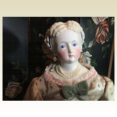 "Superb Parian Bisque Antique Doll- 19"" Tall"