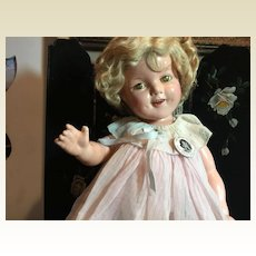"22"" All Original Ideal Compo Shirley Temple"