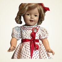 "Shirley Temple 22"" Composition Doll- Free Ship!"