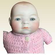 """Tiny Bye-Lo Bisque Head Baby-8""""Circumference"""