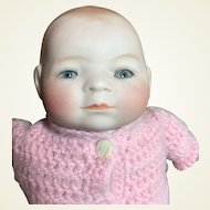 "Tiny Bye-Lo Bisque Head Baby-8""Circumference -On Sale!"