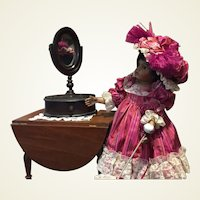 Antique Victorian Doll Mirror With Stand!!