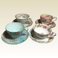 Vintage Set of English & German Tea Cups