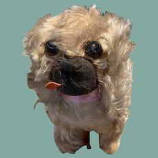 Vintage Mohair Pekinese Toy Dog