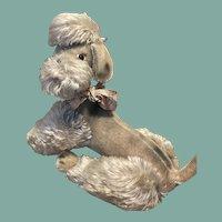 Vintage Large Mohair Poodle