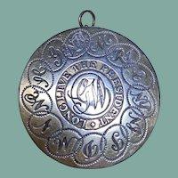 Vintage Sterling Silver Washington Pendant