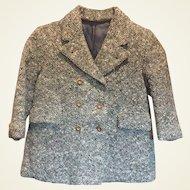 Vintage Wool Tweed Child's Coat