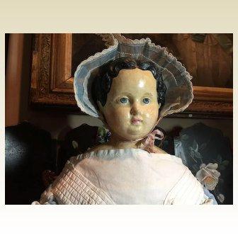 "27"" Antique German Paper Mache Doll"