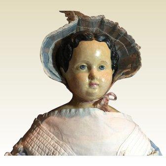 "27"" Antique German Paper Mache Doll- On Sale!"