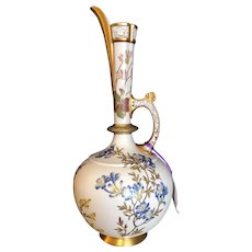 """Royal Worcester Persian Style Ewer 17-1/4"""" Tall Reticulated and Gilt Trim"""