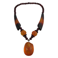 BALTIC Amber & Lucite Necklace