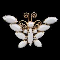 HOBE White Butterfly Pin