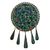 MEXICO Inlaid Pin or Pendant