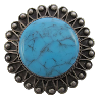 NATIVE American Turquoise Pin