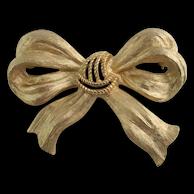 TRIFARI Gold-tone Bow Pin