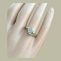 Vintage Engagement Bypass Ring 14K Gold 0.92 ctw Diamonds Free Appraisal Certificate Size 7.5 Weight 3.9 g