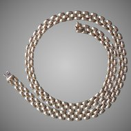 """14K Yellow Gold Panther Style Chain Necklace 16.75"""" Long 23.6 grams"""
