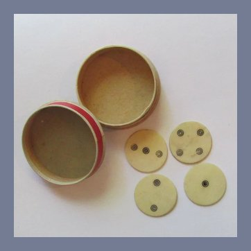 Antique Bone Whist Markers / Counters, Mid 1800's