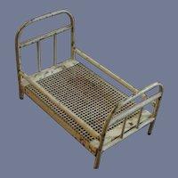 """Vintage German Metal Bed, 5 ½"""" - 1920's - 1940's"""