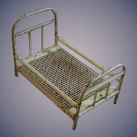 "Vintage German Metal Bed, 5 ½"" - 1920's - 1940's"
