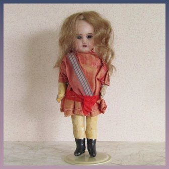 "Antique SFBJ 301 Paris Doll, 5"" Size, All Original"