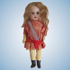 """Antique SFBJ 301 Paris Doll, 5"""" Size, All Original"""