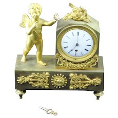 2 DAY SALE! Gilded Bronze  French Regency Period-Petite Mantle Clock