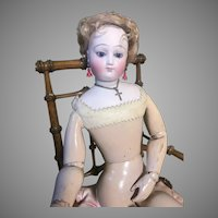 Early Bru Fashion on Wood Body with Lavish All Original Trousseau