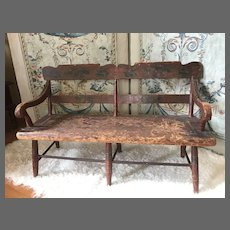 C. 1855 Pottstown, PA painted doll bench