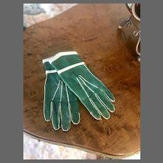 Rare Leather Fashion Gloves c. 1870+/-