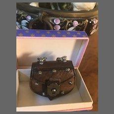 Fantastic Studded Leather Bag in Diminutive Size