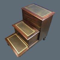 English Regency Mahogany Bed Steps / commode