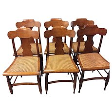 Set of Six Federal Maple Chairs